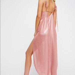 Free People Women's Pink Anytime Shine Slip